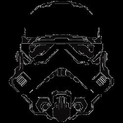 Vinilo Star Wars. casco stormtrooper