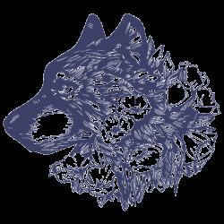 Vinilo lobo con rosas