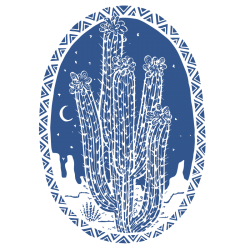 Vinilo Furgo Camperizada. Cactus