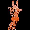 Vinilo infantil jirafa gafas
