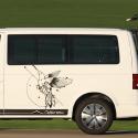 Vinilo furgoneta camper colibrí geométrico furgo