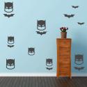 Pack de vinilos superheroes batman paredes