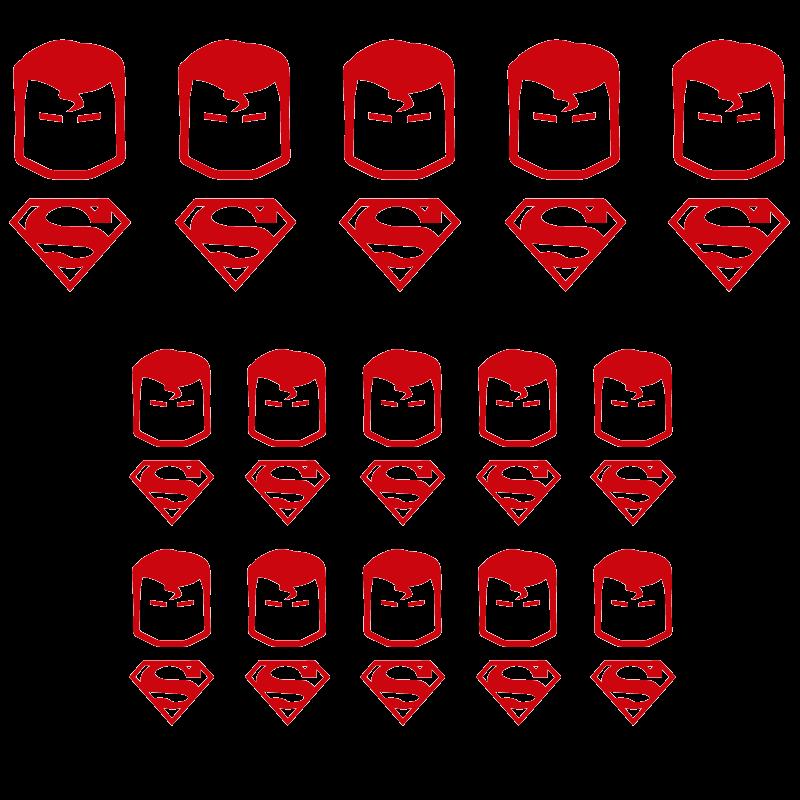 Pack de vinilos superheroes superman