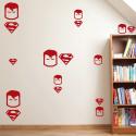 Pack de vinilos superheroes superman paredes