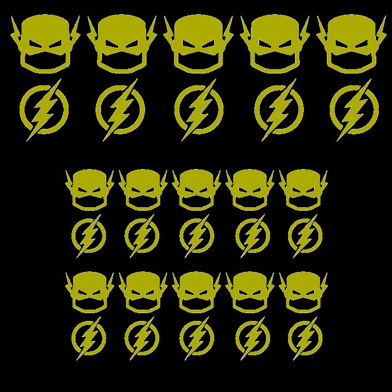 Pack de vinilos superheroes flash