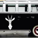 Vinilo furgoneta camper ciervo geometrico furgo