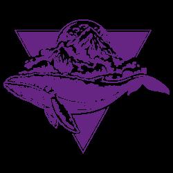 Vinilo furgoneta camper ballena montaña