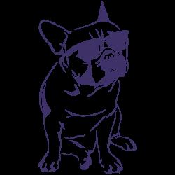 Vinilo perro bulldog francés mascota