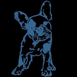 Vinilo perro cachorro bulldog francés mascota