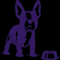 Vinilo perro orejas bulldog