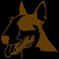 Vinilo perro bullterrier