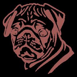 Vinilo perro carlino