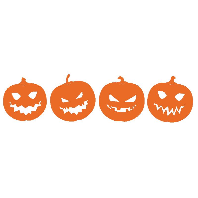 vinilo decorativo calabazas halloween, decorar pared puerta escaparate