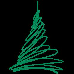 Vinilo árbol navidad moderno