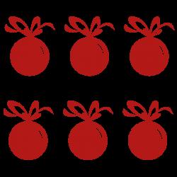 Vinilo bolas árbol navidad lazo grande
