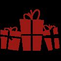 Vinilo cajas regalos navidad horizontal