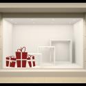 Vinilo cajas regalos navidad horizontal escaparate