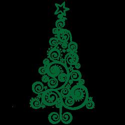Vinilo árbol navidad original