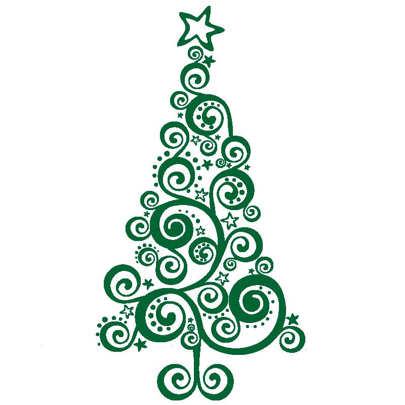 vinilos navidad vinilo rbol navidad original para escaparate negocio