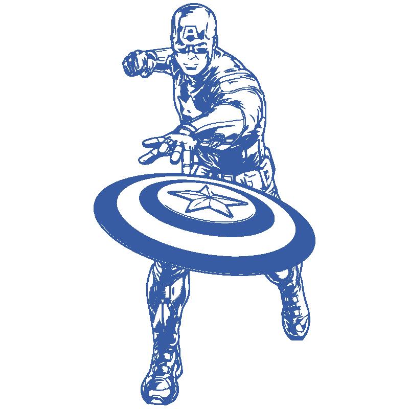 Vinilo Capitán América