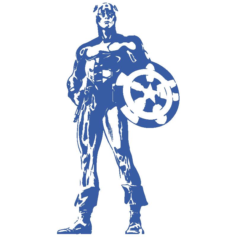 Vinilo Capitán América retro
