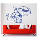 Vinilo Capitán América vintage pared