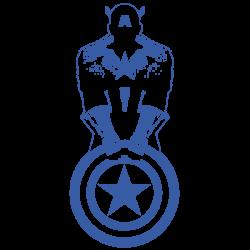Vinilo Capitán América minimalista