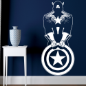 Vinilo Capitán América minimalista pared
