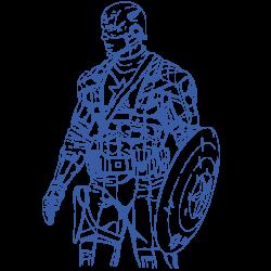 Vinilo Capitán América estilo vengadores