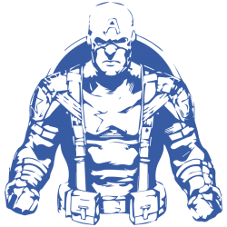 Vinilo Capitán América clásico