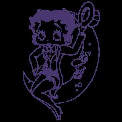 Vinilo Betty Boop luna
