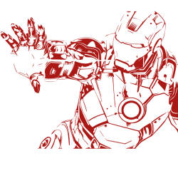 Vinilo Ironman en combate