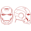Vinilo Ironman casco