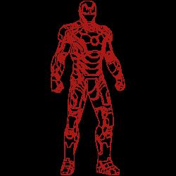 Vinilo Ironman armadura