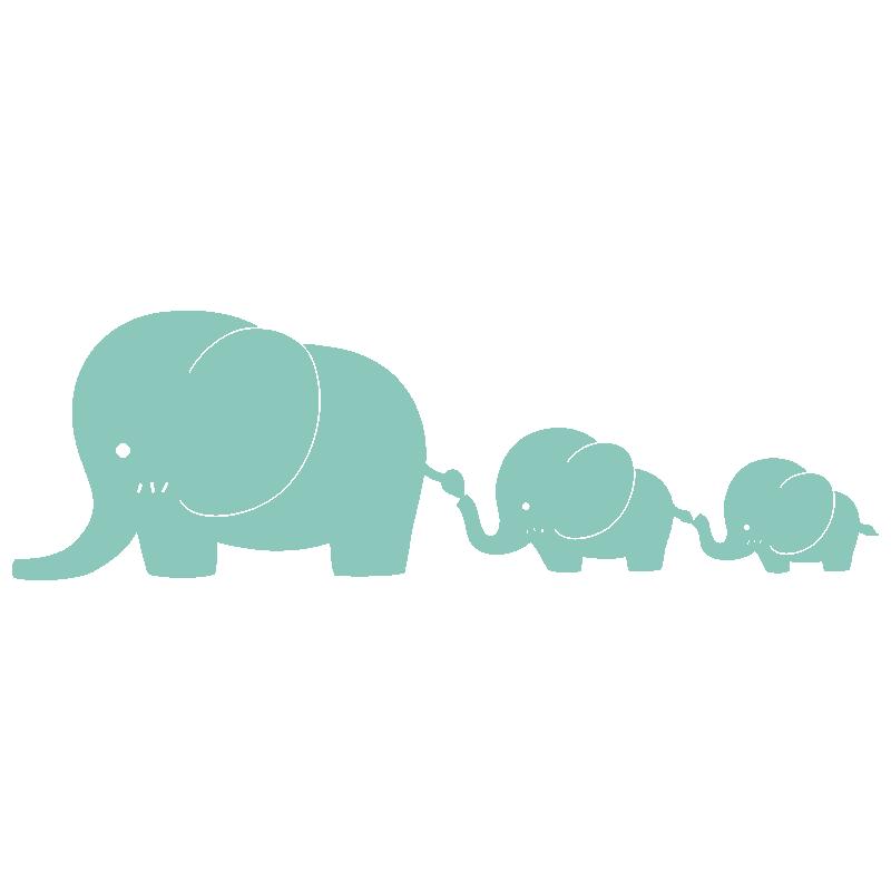 Vinilo decorativo infantil elefantes peque o paredes - Dibujos en paredes infantiles ...