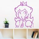 Vinilo mario bros princesa peach paredes