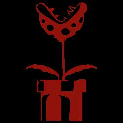Vinilo mario bros planta carnivora paredes