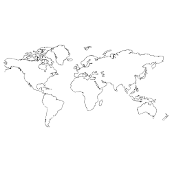 Vinilo mapa mundi líneas