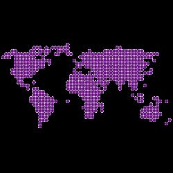 Vinilo mapa mundi circulos