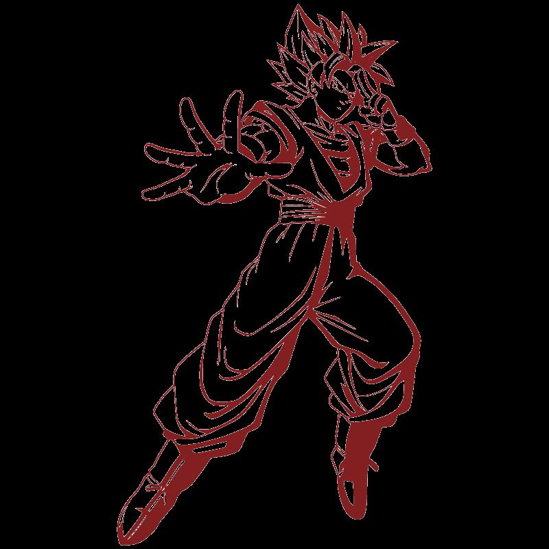 Vinilo Decorativo Goku