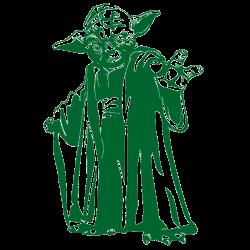 Vinilo Star Wars. Yoda maestro jedi
