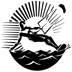 Vinilo Furgo Camperizada. kitesurf logotipo.