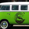 Vinilo Furgo Camperizada. kitesurf logotipo furgoneta camper 1