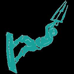 Vinilo Furgo Camperizada. kitesurf salto
